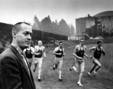 "Oregon track & field legend Bill Bowerman overseeing his ""Tigers"""