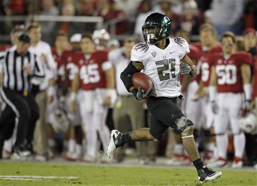 Oregon scored their second consecutive 20 point win against Stanford in 2011