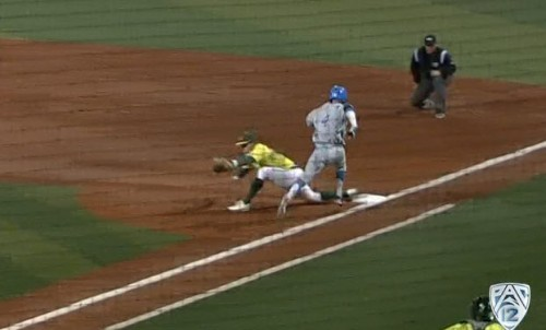 UCLA top 8, 2 outs, ump missed call