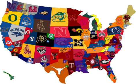 How a college football fan sees the world