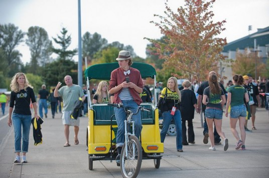 A staple of Eugene: the pedicab
