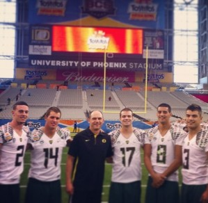 QB's from left to right: Bennett, Haines, Lockie, Mariota, Rodrigues