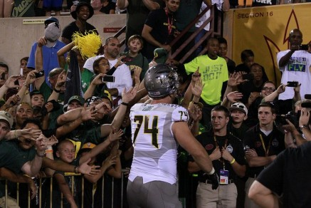 Kyle Long was liked loved by Duck fans in his year on campus.
