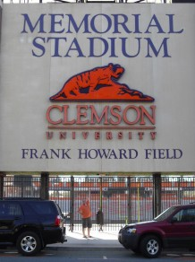 "Entrance where Clemson football players prepare before ""Running Down the Hill""."