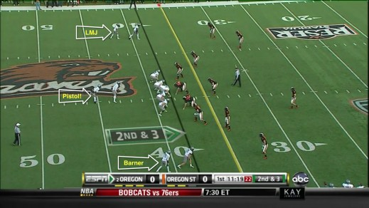 Doublestack with RB's in back, vs OSU 2010