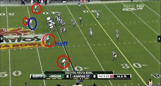Huff throw formation