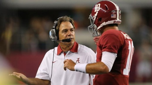 Coach Saban and AJ McCarron
