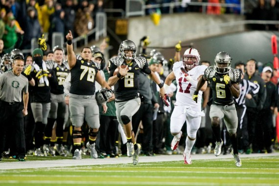 Oregon jumped out early on Stanford in 2012