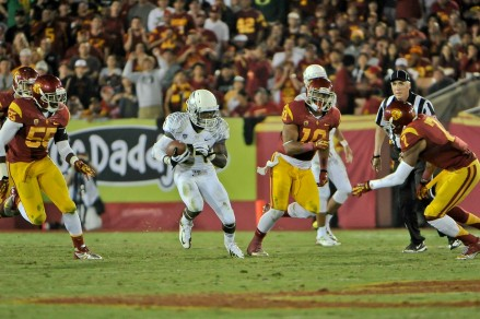 Barner in the wide open spaces of USC