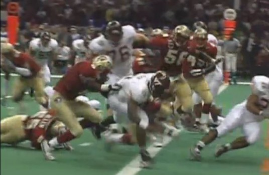 MIchael Vick scores against Florida State in 2000 Sugar Bowl