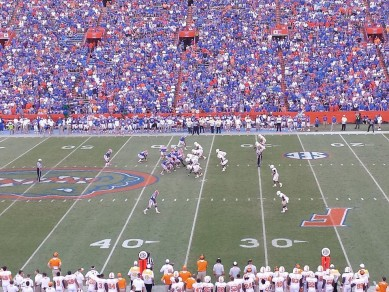 UF fans still packed the stadium to watch a turnover filled ball game.
