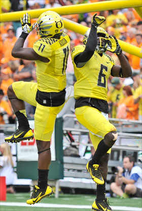 Bralon Addison and De'Anthony Thomas