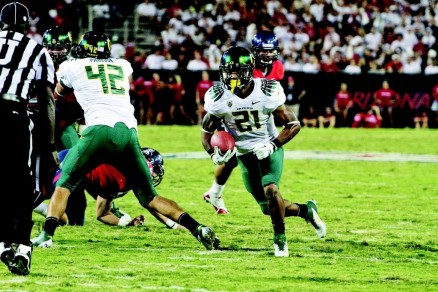 LaMichael James posted a school record 288 rushing yards in the team's 2011 Pac-12 opener against Arizona.