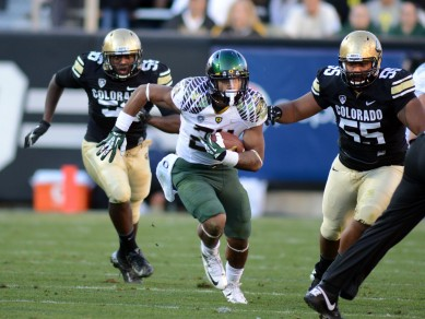 Thomas Tyner showing his speed against Colorado