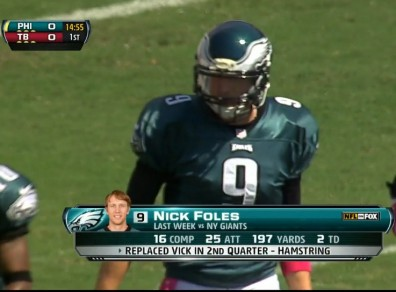 Nick Foles, confident enough to wear pink