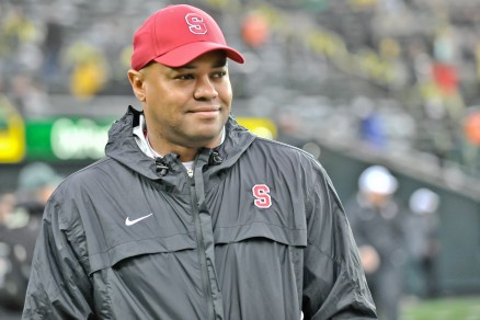 Stanford HC David Shaw with a satisfied look. However, things did not go as expected against Utah.