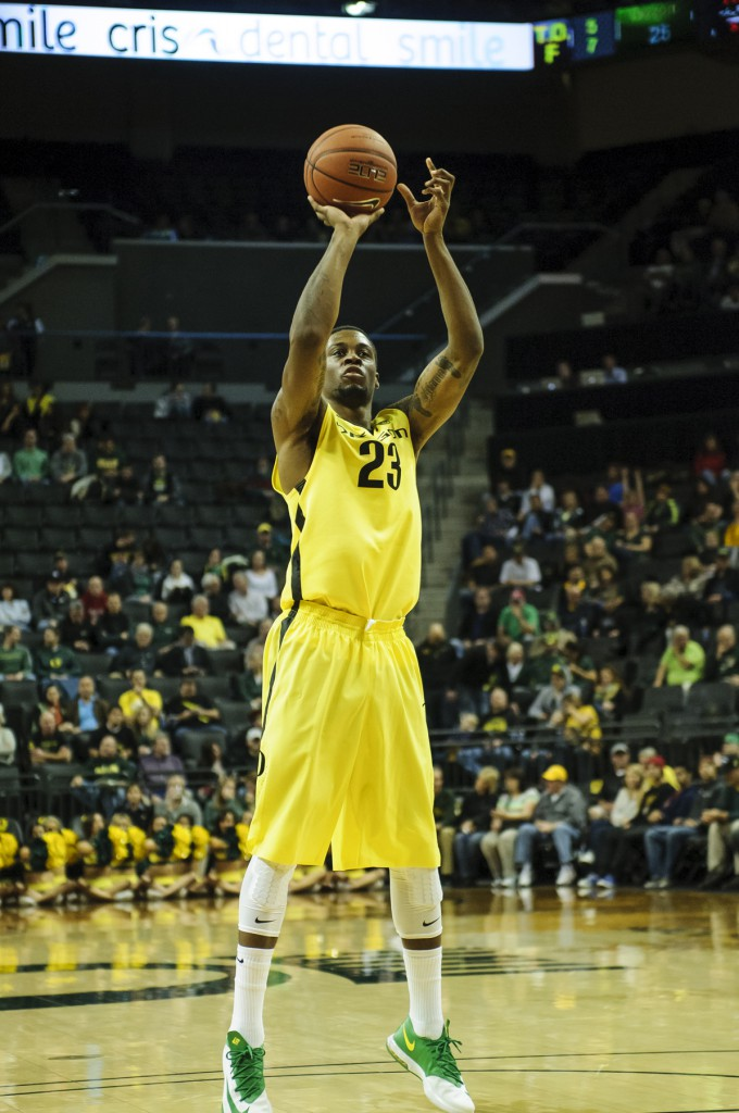 Elgin Cook at the line