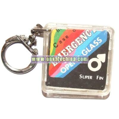 The Condom Keychain.  Where the rubber meets the road.