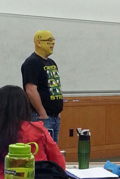 This professor is the definition of a fanatic