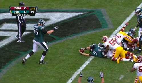 Foles runs for the TD - again!