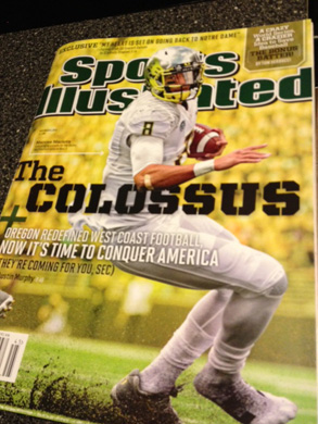 Marcus Mariota on the cover of Sports Illustrated this week