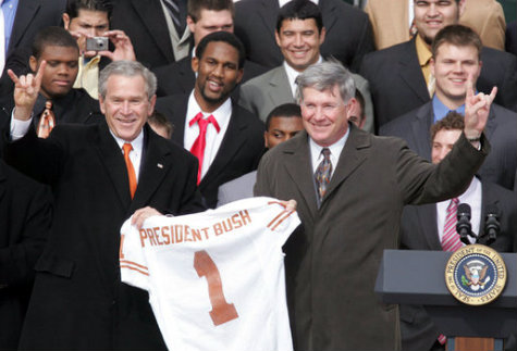Mack Brown's last recruiting success-later disqualified for being 60 years old.