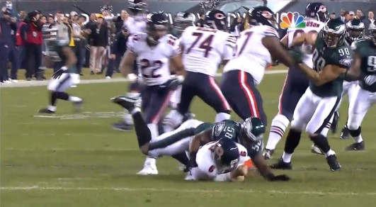 Trent Cole sacks Culter (#1 of 3)