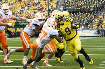 Byron Marshall led the Ducks on the ground in 2013 with 1,038 rushing yards and 14 touchdowns.