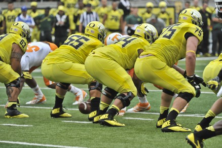 A continuous influx of talent keeps Oregon tough in the trenches.