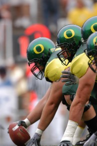 Oregon offensive line