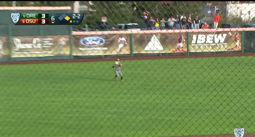 Just made the catch...