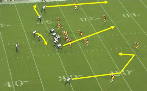 A ton to cover for an NFL defense as well.