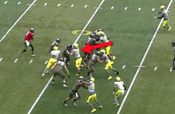 Balducci is discarding the Offensive Lineman...