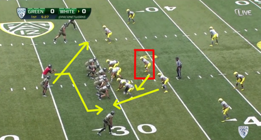 When the defense wants to cheat, the QB makes a second-level read