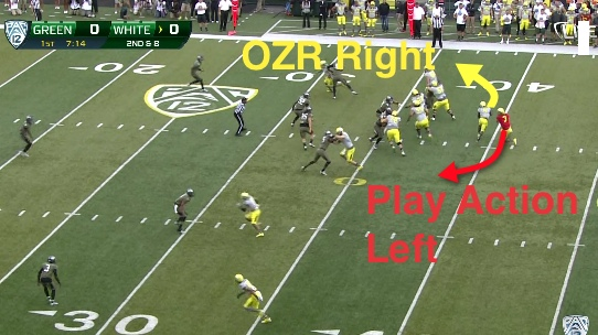 Oregon's Classic Play Action off the Outside Zone Read