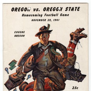 Oregon vs. Oregon State 1941 football program