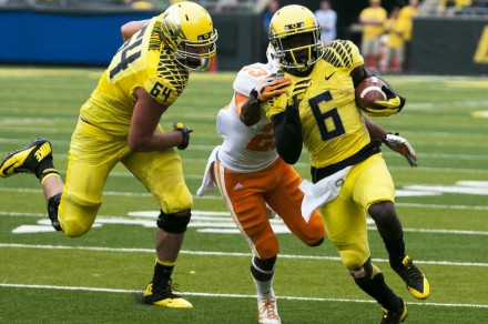 De'Anthony Thomas flashing his speed.
