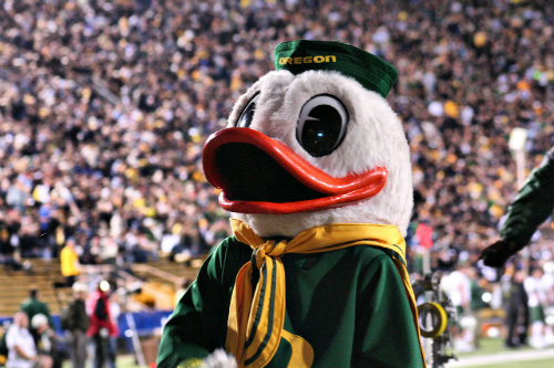 You weren't THE Oregon Duck. Don't be silly. But you were AN Oregon Duck