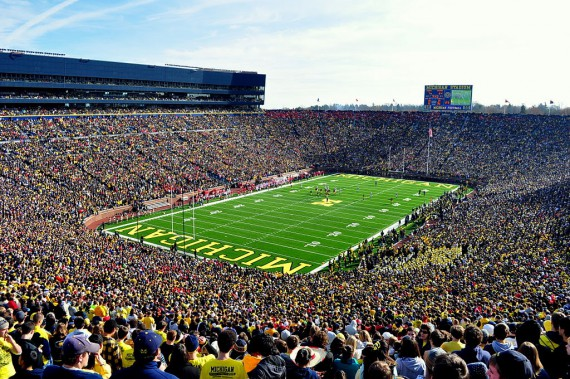 Michigan Stadium is the largest stadium in the United States, and home to both the NCAA and NHL attendance records.