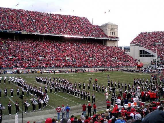 "The famed ""Script Ohio"" tradition."