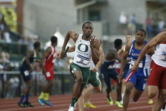 U of O's Mike Berry at 2013 NCAA Track and Field Championship