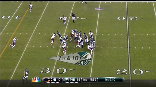 Smith finds the hole for a short gain.