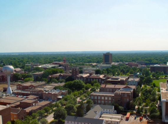 Aerial image of the University of Oklahoma