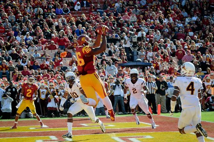 Keelan Johson wasn't fighting against USC much on this play