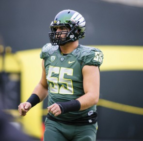 Center Hroniss Grasu is a big leader for the Ducks on the offensive line.