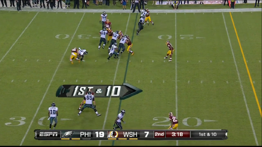 McCoy picks up a ten-yard gain.