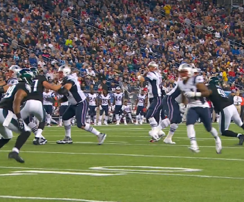 The Patriots hosted three joint practices and a preseason game with the Eagles this year.