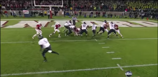 The result: an easy touchdown for LaMichael James.