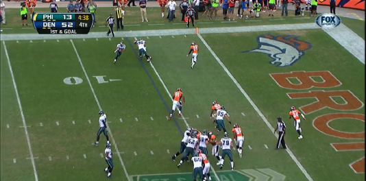 Maehl easily scores the touchdown.