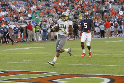 Thomas Tyner cruising into the endzone